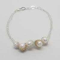Baya Pearl Cluster Bracelet