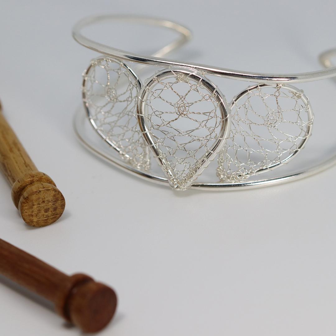 Torchon Lace Torc Bracelet