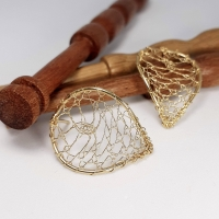 Torchon Lace Curved Studs