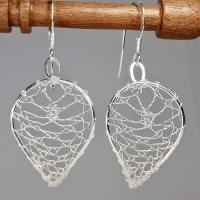 Torchon Lace Falling Leaves Earrings