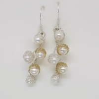 Baya Pearl Cluster Earrings