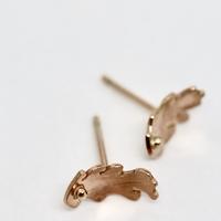 Autumn Gold Oak Leaf Earrings