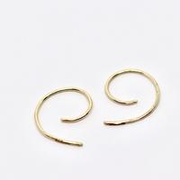 Golden Scroll Huggy Hoop Earrings