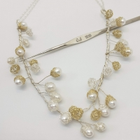Baya Pearl Vine & Chain Necklace